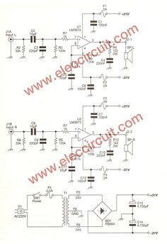 TDA2050 Amplifier Schematic diagram | electronics | Pinterest ...