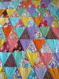 Pyramid quilt using a sixty degree triangle