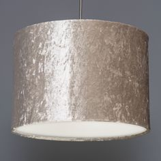Quirk Ltd - Ivory Crushed Velvet Effect Drum Lampshade, £45.00 (http://www.quirkuk.com/ivory-crushed-velvet-effect-drum-lampshade/)