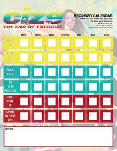 Cize Beginner Calendar