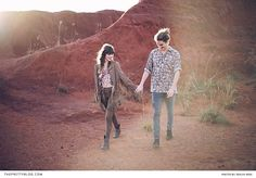 Boho inspired couple shoot in the dessert | Peachy Keen Photography |  Hair: Laurian De Beer | Make-up: Kerry-Lee Greco | Wreath: Dear June | Clothes and Styling: Tayla Lange |