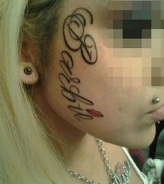Yes, pixilate her eyes. Like they're her identifying feature now... #tattoo fail