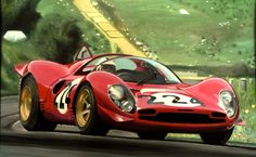 Nino at the '67 Targa Floria, by James Woodhead  Ferrari 330 P4