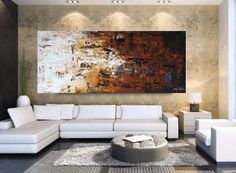 """Wall Art Painting 72"""" x30"""" HUGE abstract painting Acrylic painting oil painting Wall Decor wall hangings from Jolina Anthony"""