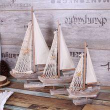 2 stks/partij S-L size Amerikaanse land retro Middellandse zeilboot model kamer decoratie decoratie Woninginrichting(China (Mainland))
