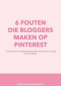 Gebruik jij Pinterest voor je blog maar heb je nog niet het succes waar je op hoopte? Dan kan het zomaar zijn dat je een van deze veelgemaakte fouten maakt.