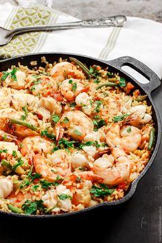 Seafood paella spanish