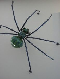 Nathan Macomber glass and metal spider