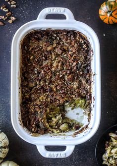 This brussels sprouts gratin is heaven in a dish! It's super flavorful, delicious and comes together to create a fabulous side dish for Thanksgiving or the holidays. Pancetta and cheese turn this in to flavor town - you won't be able to stop eating it! Thanksgiving Side Dishes, Thanksgiving Recipes, Holiday Recipes, Thanksgiving 2020, Christmas Recipes, Fall Recipes, Christmas Ideas, Brussel Sprouts Au Gratin, Brussels Sprouts