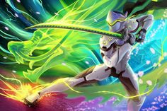 Video Game Overwatch  Genji (Overwatch) Wallpaper