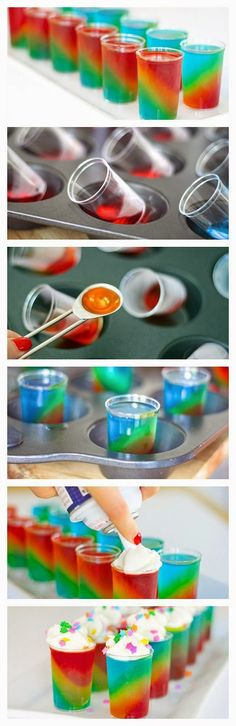 New Food & drink: Slanted Rainbow Jello Shots