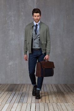 Brunello Cucinelli - Fall 2015 Menswear - Look 18 of 33 - Perfect for the casual office, PERFECT!!!!