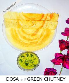 Authentic South Indian Crispy Dosa and Green chutney
