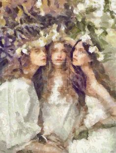 Three Dryads by DancerOfTime.deviantart.com on @DeviantArt