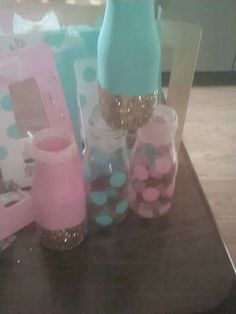 Shabby chic baby shower centerpieces and keepsake