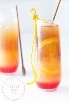 Tropical Fruit Punch Iced #Tea | @bakersroyale