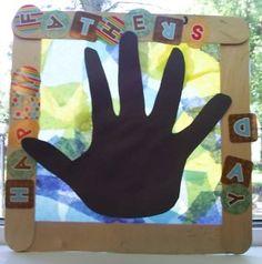 Father's Day Hand Print Sun Catcher Craft