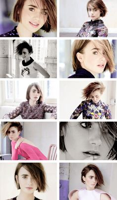Lily Collins for Marie Claire UK, October 2014