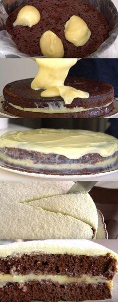 A receita perfeita de bolo de chocolate com leite ninho. Virou vício na minha casa! #bolo #chocolatecomninho #ninhoechocolate #combinaçãoperfeita