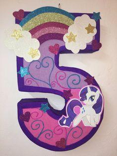 pinata de pony numero 5 little pony por aldimyshop en Etsy                                                                                                                                                                                 Más