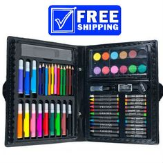 68 Piece Art Set with Storage Case by Banana Crossing at 1CrazyDeal.com $12.49