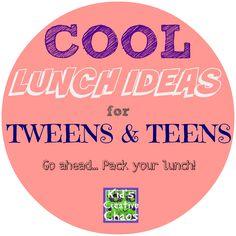 Cool Creative Lunch Box Ideas for Tweens Teens #KidsCreativeChaos