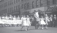 First German-American Steuben Day Parade on Myrtle Ave Ridgewood/Glendale 1957.
