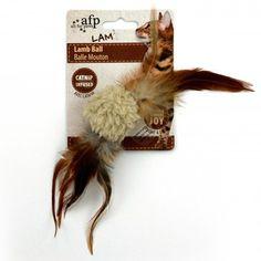 Brinquedo para Gatos Bola Lamb Bege com Som de Pássaro Lamb Ball Lambswool Afp - Meuamigopet.com.br #cat #cats #gato #gatinho #bigode #muamigopet