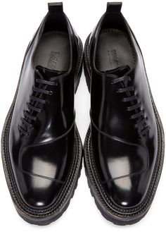 Yang Li - Black Patent Asymmetric Oxfords