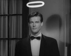 Roger Moore as Simon Templar in the mystery-spy-thriller television serie THE SAINT (1962 - 1969)