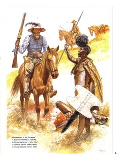 'Boer Voortrekker, c. African Culture, African History, Military Art, Military History, South Afrika, Osprey Publishing, British Uniforms, African Tribes, Historical Costume