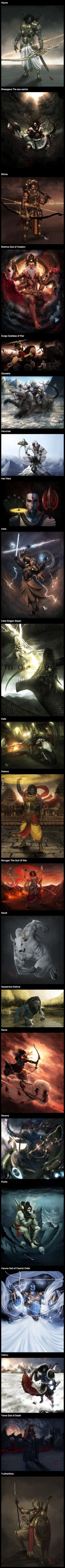 Illustrations of Indian Gods