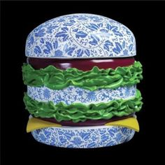 porcelain hamburger in qing dynasty style  #porcelain #qingdynasty #hamburger