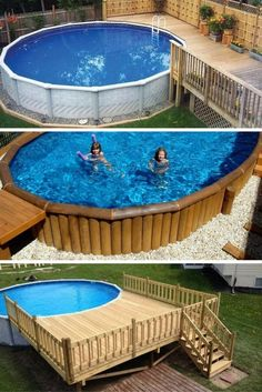 Deck Above Ground Pool Diy.Above Ground Pools Decks Idea Above Ground Pool Deck . Above Ground Pools With Decks Dallas Tx Design Idea Wood . 7 Reasons To Choose An Above Ground Pool . Home and furniture ideas is here Above Ground Swimming Pools, Swimming Pools Backyard, Swimming Pool Designs, In Ground Pools, Above Ground Pool Landscaping, Backyard Pool Landscaping, Landscaping Ideas, Backyard Coop, Backyard Parties