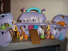 Oley Noah's Ark Boat Animals Food Zebras Turtles Giraffes Kangaroos Hippos #Oley