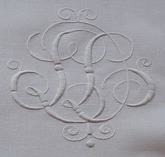 Em's Heart Antique Linens -Monogrammed Antique Linen European Shams