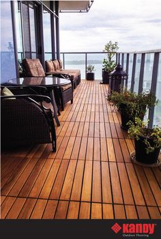 KANDY's finest hardwoods. Interlocking floating tiles are the ultimate solution for condo balconies.