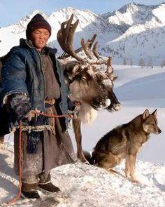 Tsaatan Reindeer Herder . Mongolia                              …