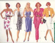 1989 Very Easy Jacket and Dress: Butterick CLASSICS 3664 - Sz 18-22 Uncut - Women