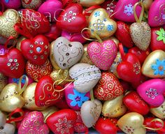 Heart Ornaments Galore by Made by BeaG, via Flickr