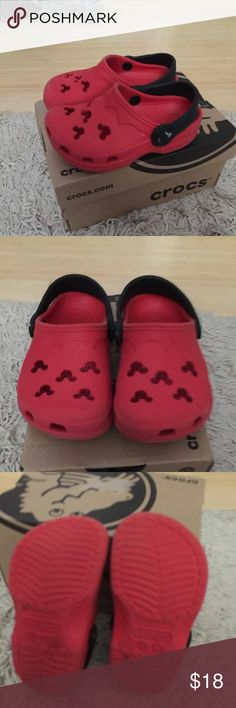Mickey Mouse crocs size 4/5 Cute Mickey Mouse crocs size 4/5 in great condition Crocs Shoes Sandals & Flip Flops