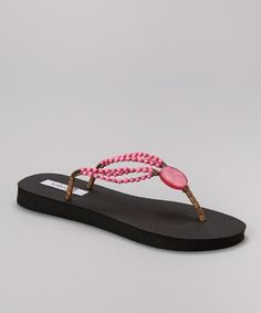 Another great find on #zulily! Pink Capiz Flip-Flop #zulilyfinds