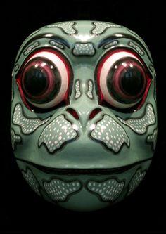 Frog Prince / Godogan Mask from Bali, Indonesia