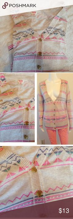 20%•3•items  Multi-color tan Deep ❤️ Women's cardigan deep v long sweater light weight cotton by Mossimo. Aztec print- light tan super cute and pretty for spring summer fall winter ! Parties after work attire formal casual road trips beach comfortable sweater with long sleeves button up front deep v-neck printed multi-color tan with pink blue. Sleeves are long great for spring summer parties beach road trips shopping night out vacation traveling cruises after work attire girly Mossimo Supply…