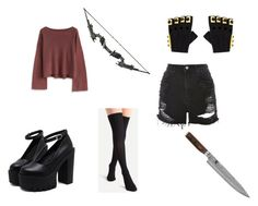 """""""Clementine outfit"""" by miwxbioshock on Polyvore featuring Chicwish, Topshop, Shun and Majesty Black"""