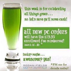 10% off everything free shipping and $19.95 reimbursed. Place your orders by Sunday to ale advantage of this deal!!!!! Link in bio  #rodanandfields #bestskinofyourlife #glowing by daniellesperry81