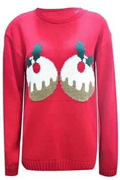 Christmas Xmas Funny Slogan 3D jumpers Elf Snowman Penguin Santa Retro USA 810 UK1214 double pudding Red * Find out more about the great product at the image link.