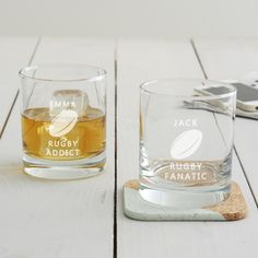 Personalised Rugby Glass