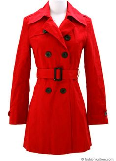 Long Red Raincoat