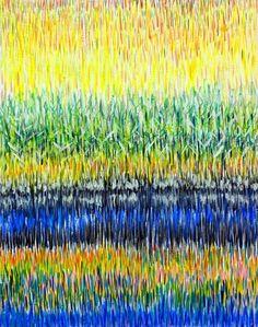 ARTFINDER: Schilf - Ölbild 50 x 40 cm by Volker Mayr - Malerei, oil on canvas 50 x 40 cm Natur, Landschaft, Sonne: Farbenpracht entfaltet das beleuchtete Schilfgras an einem See. Ein Ölbild, das Freude macht un...